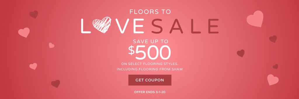 Love sale banner | Tom January Floors