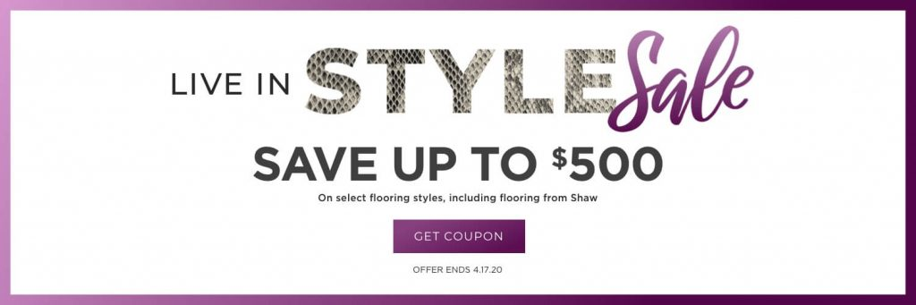 Live In style sale banner   Tom January Floors