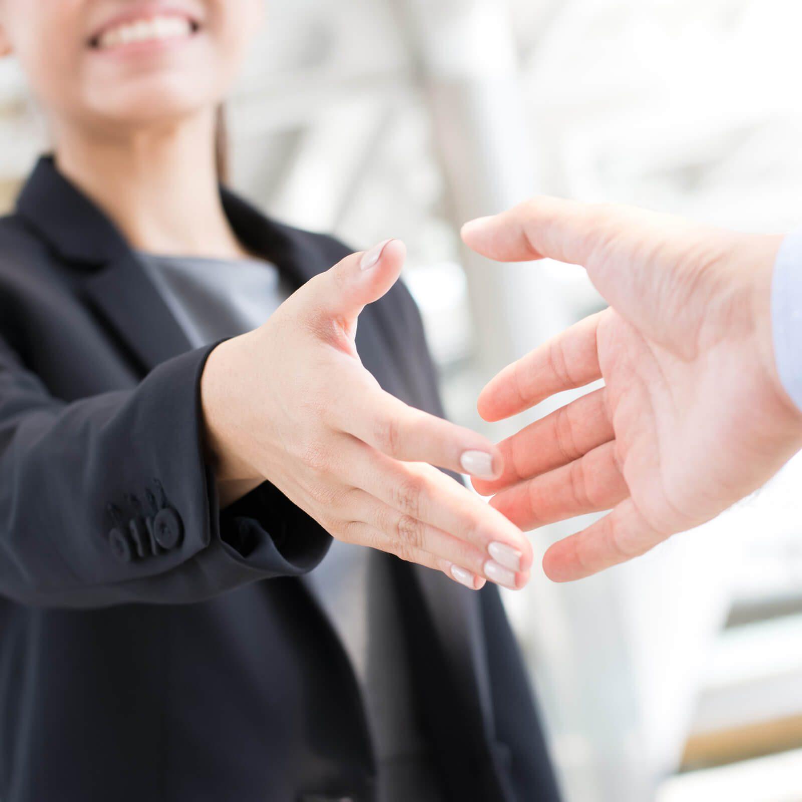 Shaking hands | Tom January Floors